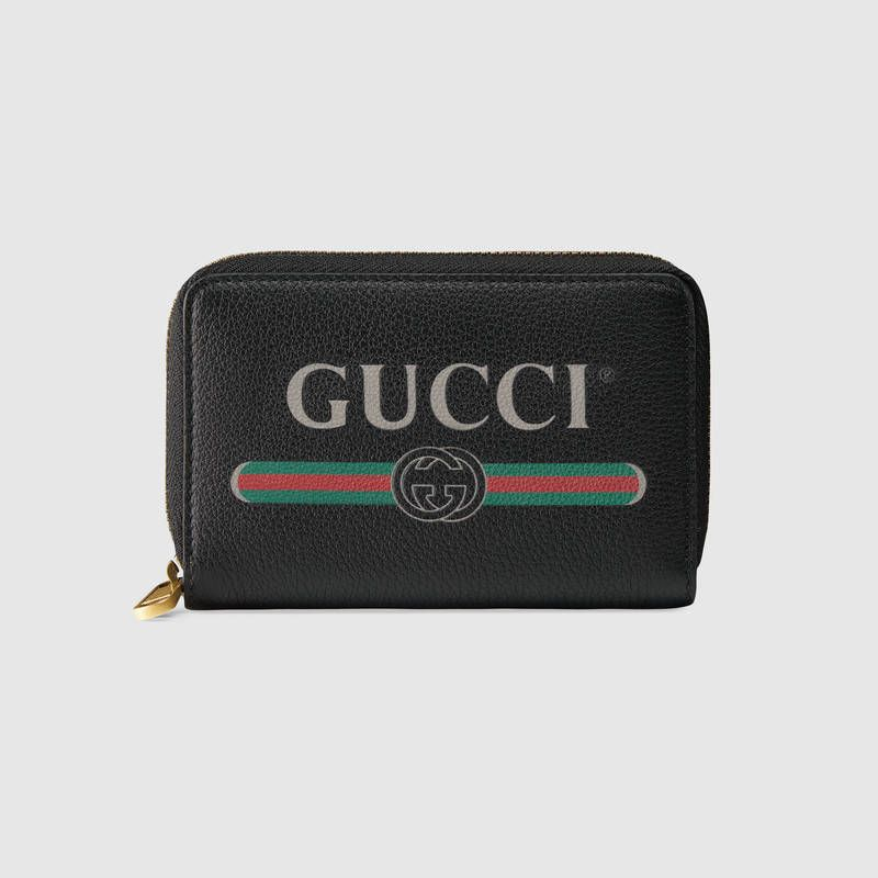 a4b03d3a21 Gucci Print leather card case | WALLETS | Leather card case, Gucci ...