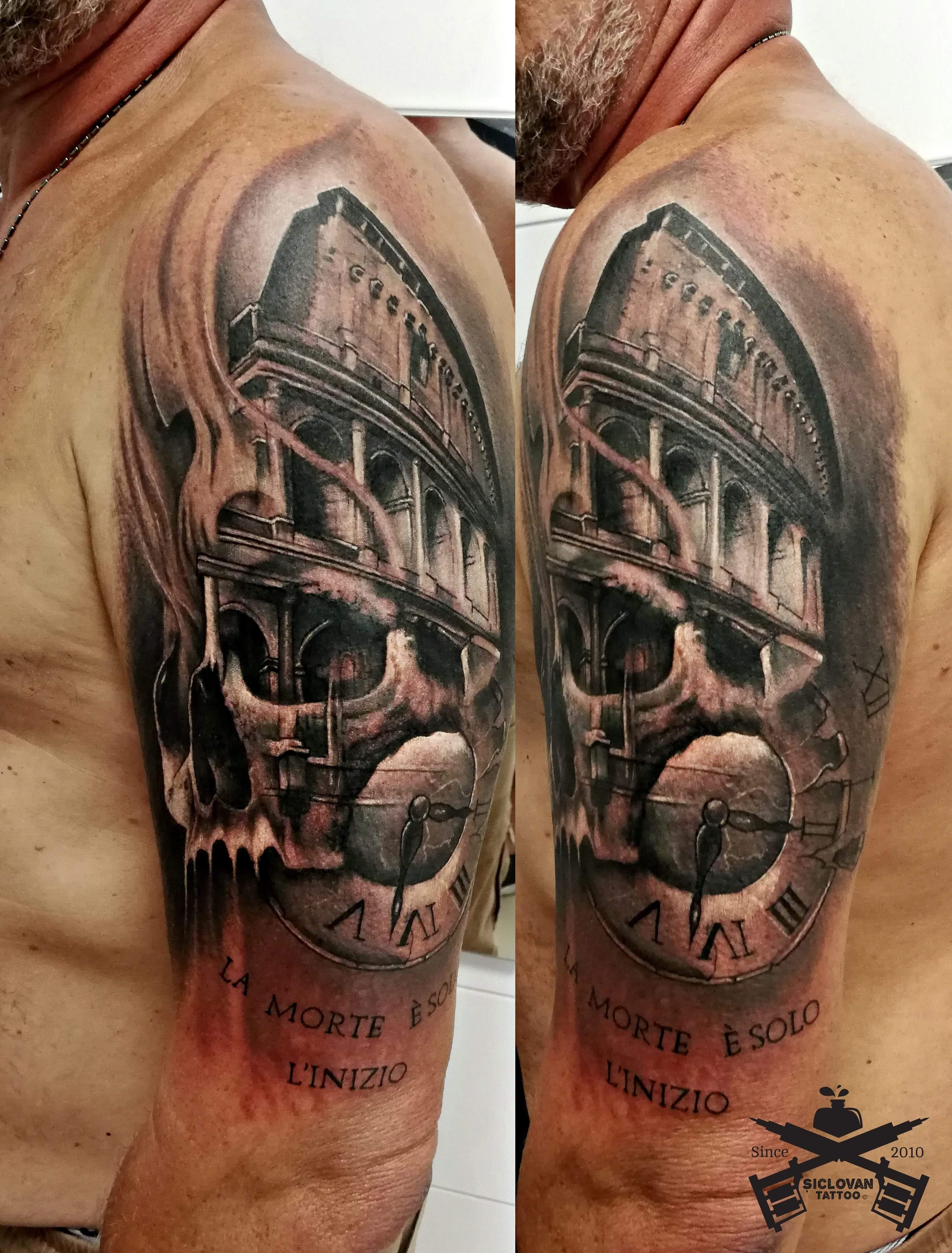 Coloseum Tattoo Italien Hautkultur Andreisiclovan Rom Mannheim Scull Tattoo Und Piercing Tattoo Studio Helix Piercing Stechen