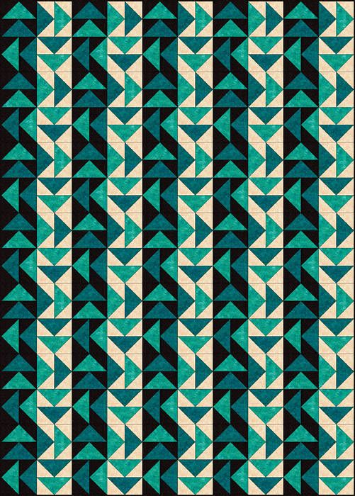 Strippy Set Dutchmans Puzzle Quilt Pattern Quilting Pinterest