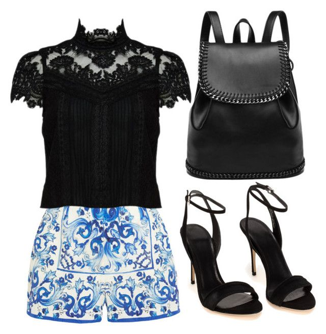 """""""School outfit!"""" by modernmegan on Polyvore featuring Dolce&Gabbana and Alice + Olivia"""