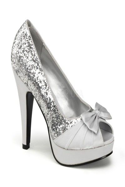895e5c2f3517 The features include a glitter upper with a pleated satin strap vamp ...