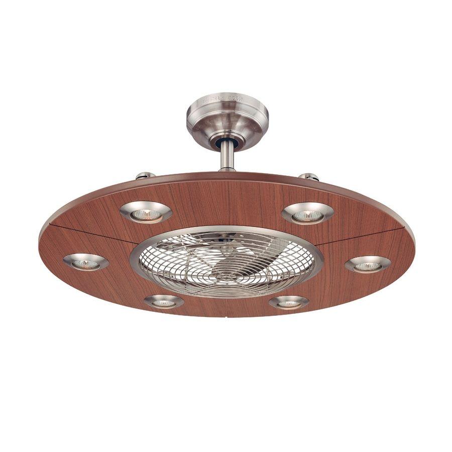 Shop allen roth 28 in dexter brushed nickel ceiling fan with light ceiling fans shop allen roth mozeypictures Gallery