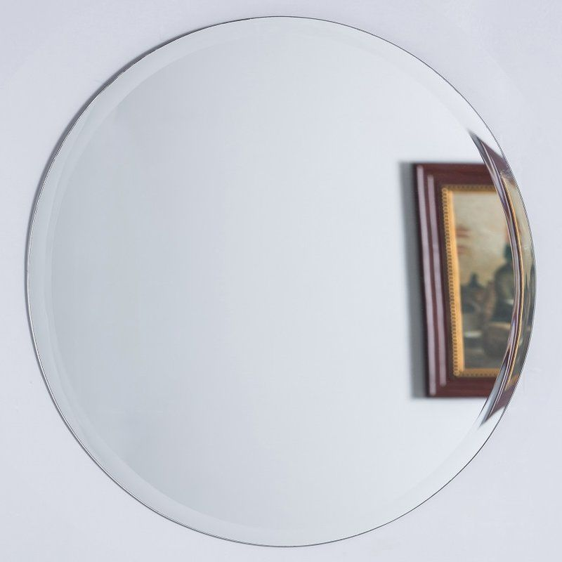 Bellaterra Home Round Frameless Bathroomvanity Wall Mirror