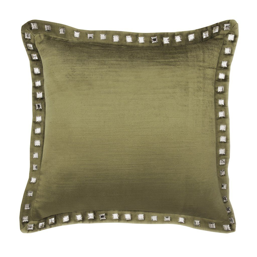 Sage Velvet Pillow Cover sage green