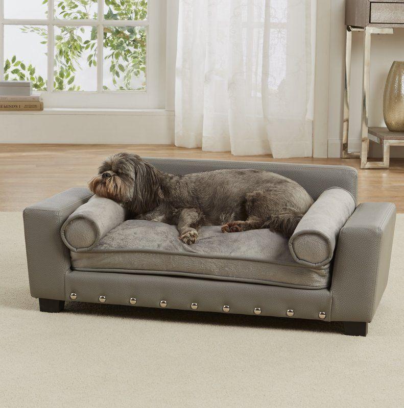 Corrine Dog Sofa With Cushion In 2020 Dog Sofa Bed Pet Sofa Dog Sofa