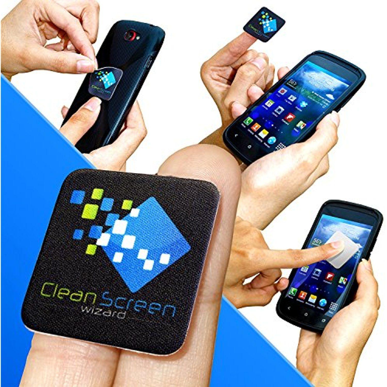 Clean screen wizard microfiber sticker screen cleaner