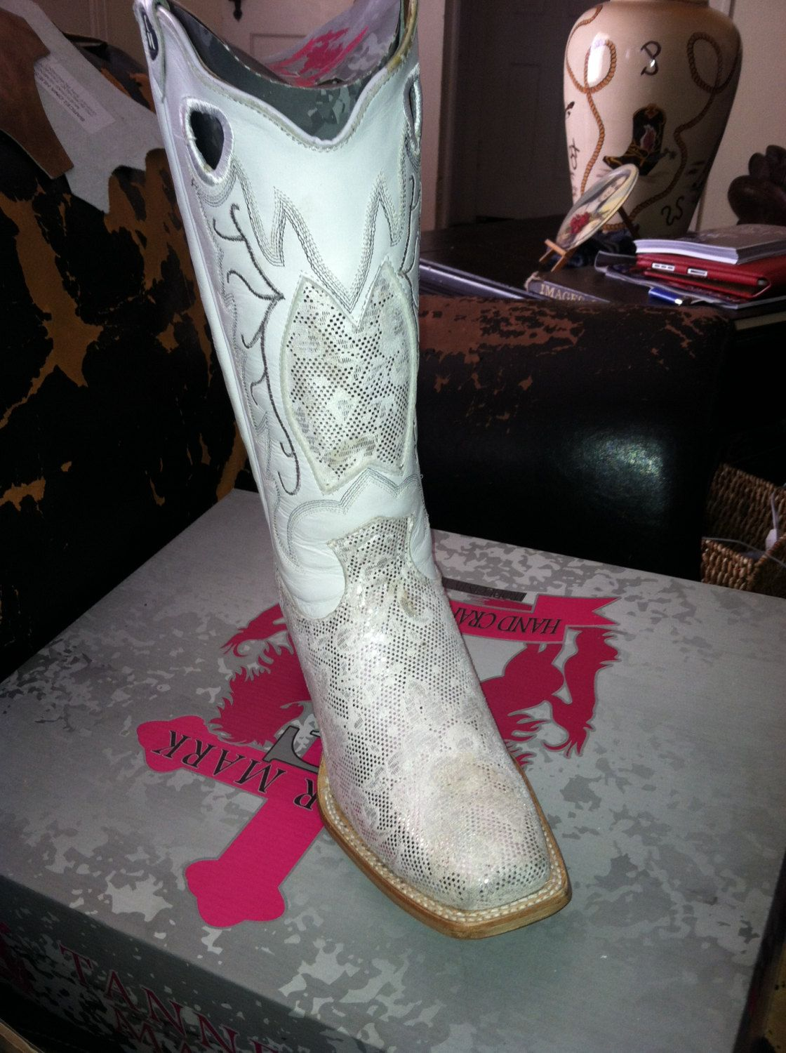 White Wedding Cowboy Boots for party | Bridal attire | Pinterest ...