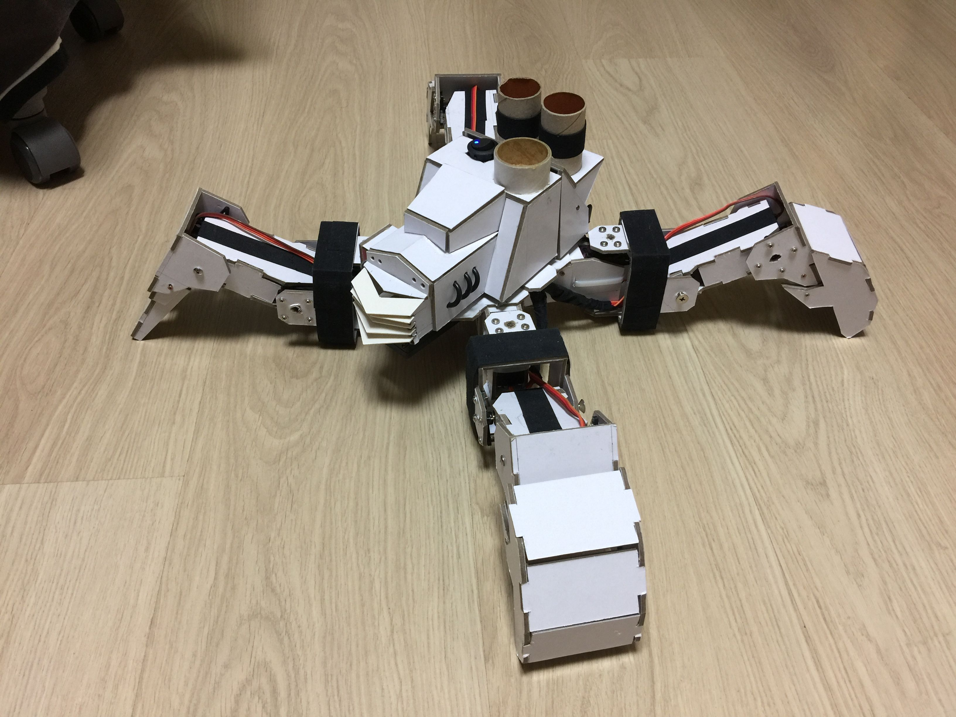 The enhancement of the quadruped robot