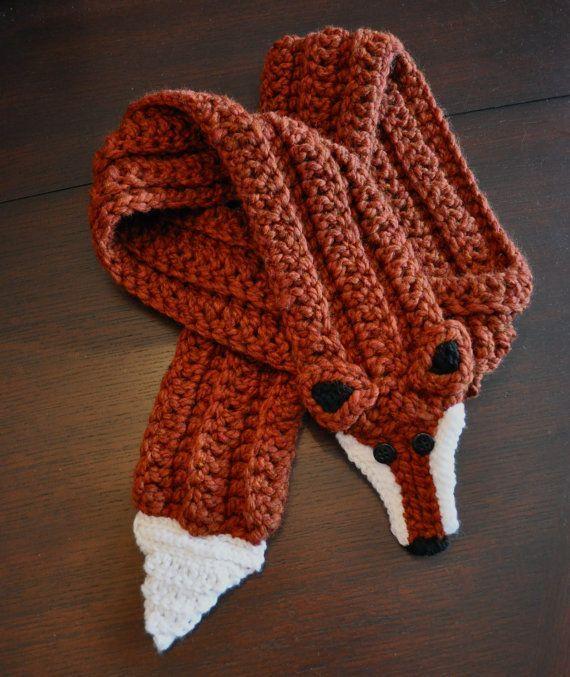 Excelente Crochet Fox Scarf Pattern Fotos Ideas De Patrones De