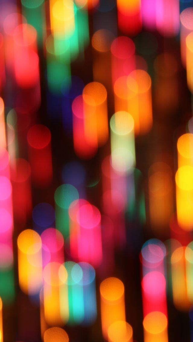 Colorful Christmas Lights IPhone 5s Wallpaper