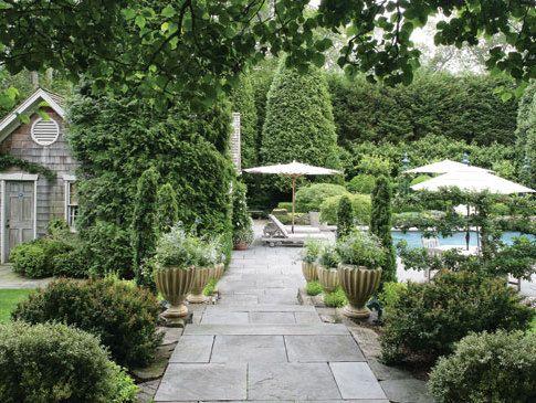 Backyard of interior designer Charlotte Moss