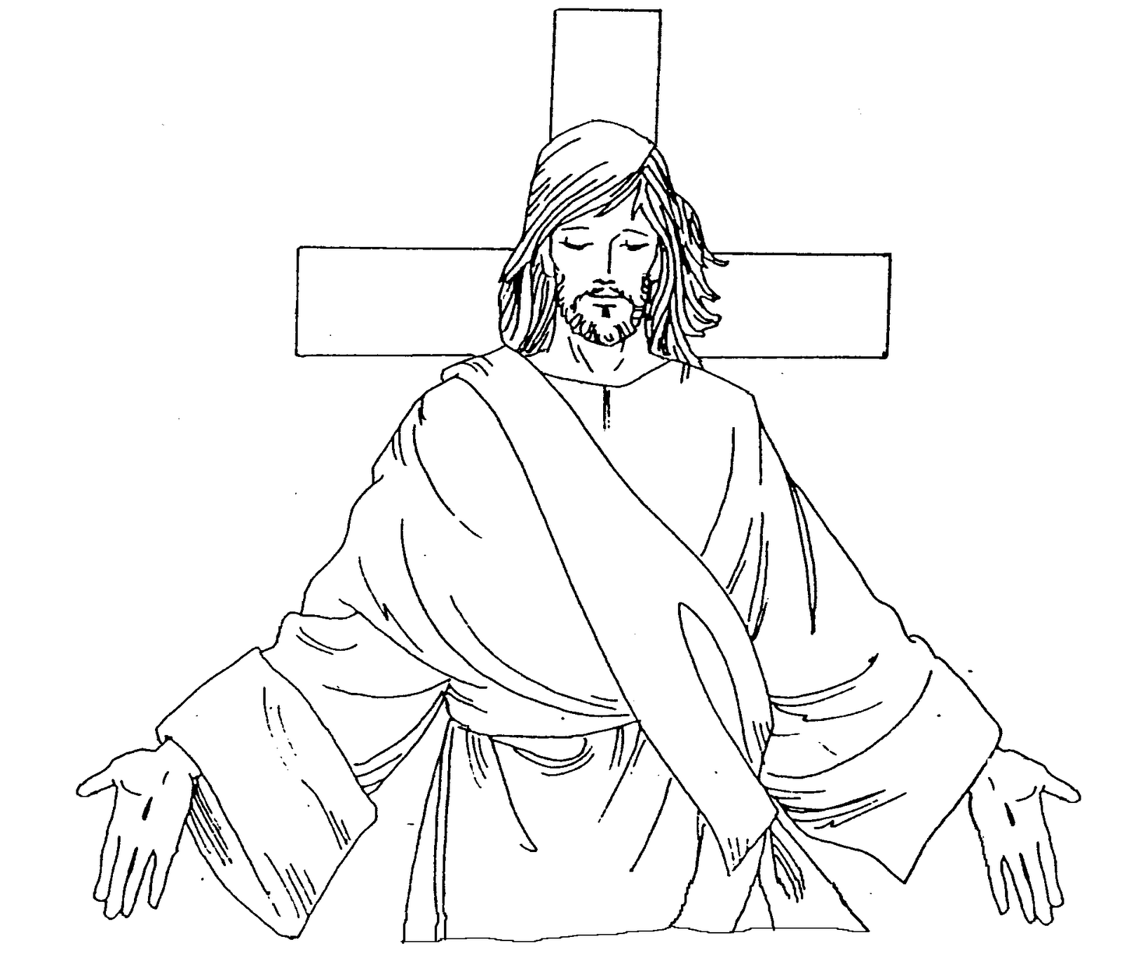 Coloring pages jesus christ - Christ Our Savior Catholic Coloring Page I Have Come That They May Have Life