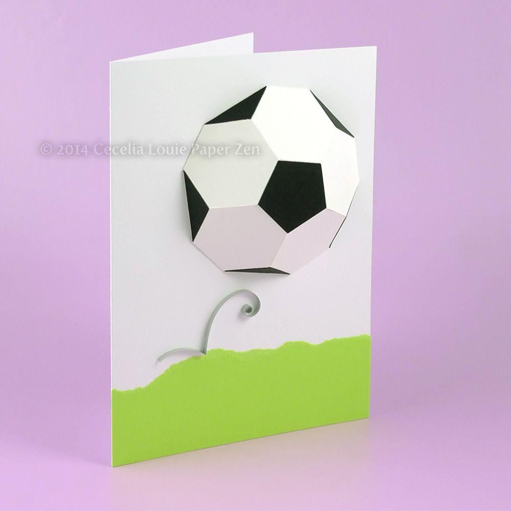 3d Soccer Ball Birthday Card Birthday Cards For Boys Birthday Cards Diy Birthday Cards
