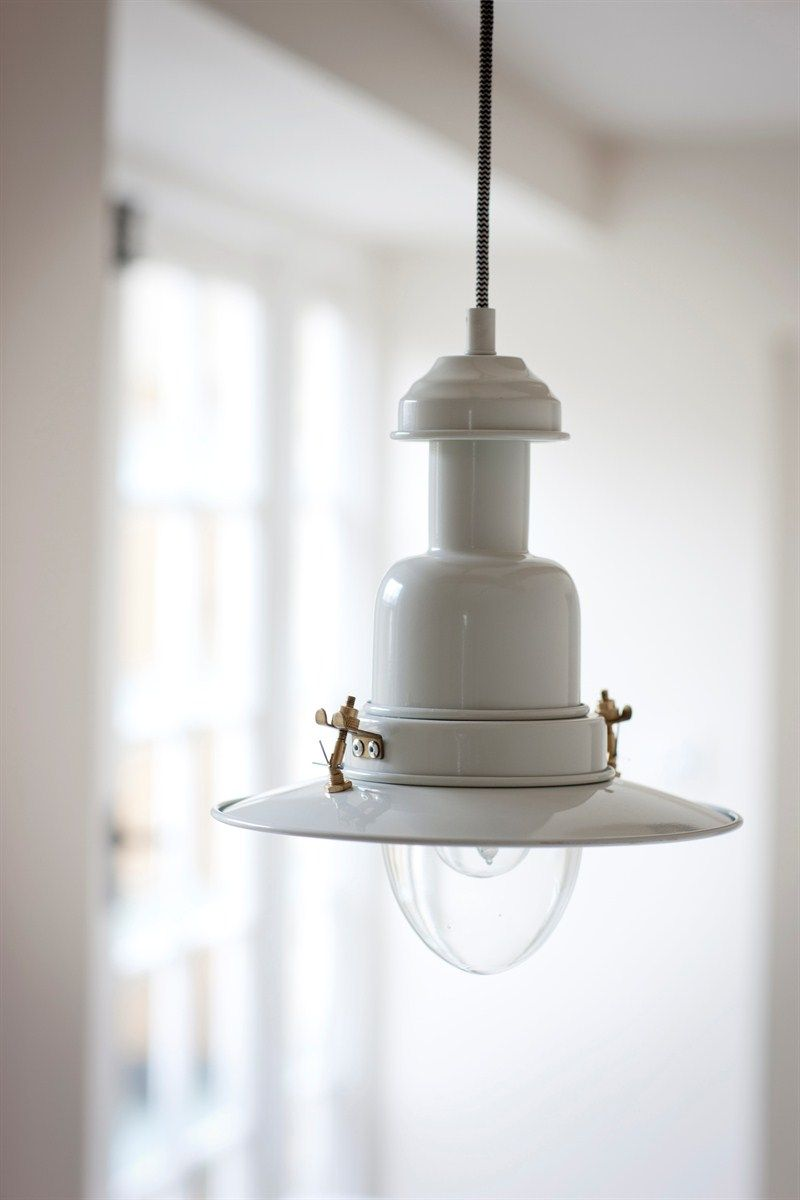 Pendant fishing light in chalk stylish interior lights for your home