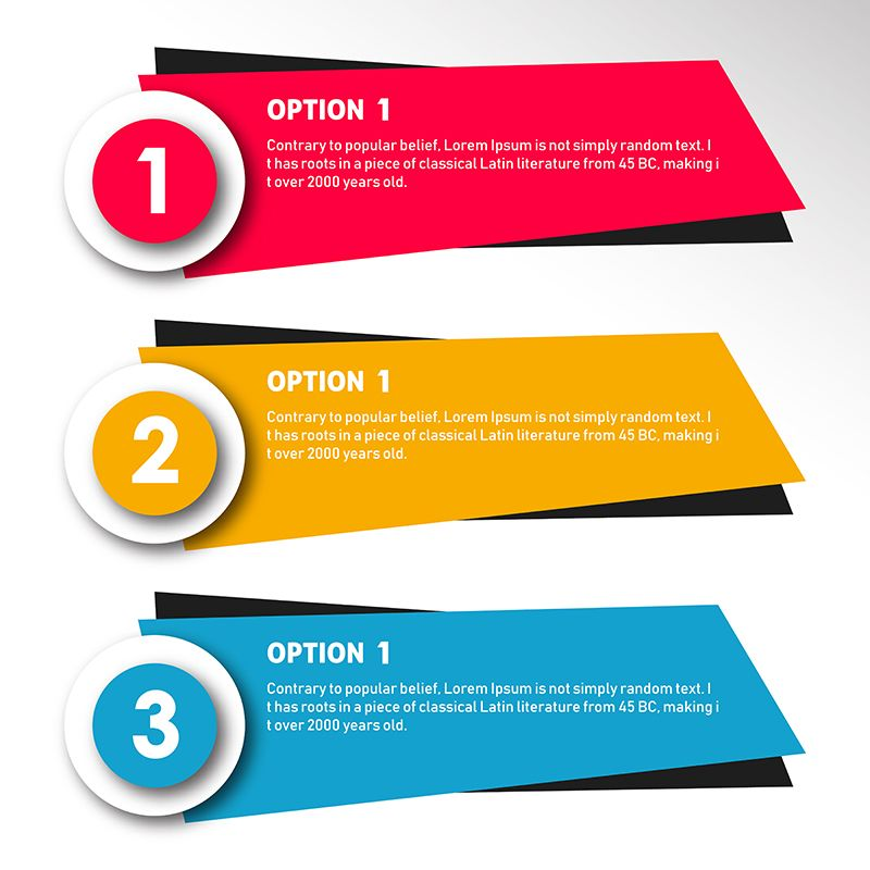 Presentation Business Infographic Template With 3 Options Vector