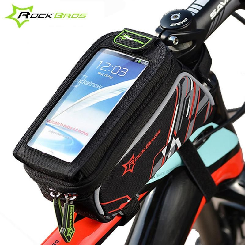 Rockbros Bike Bicycle Bags 6.0'' Phone Cases Cover iPhone Frame Touchscreen  Bag Downhill MTB