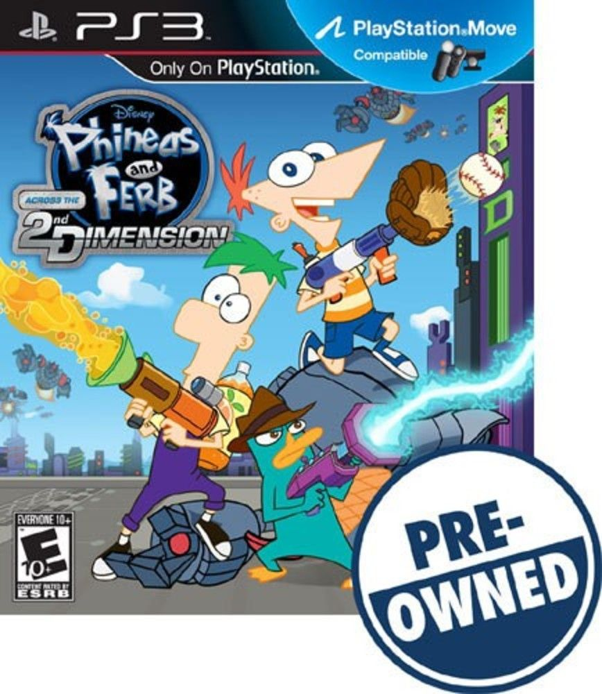 Phineas and Ferb Across the 2nd Dimension â PREOwned