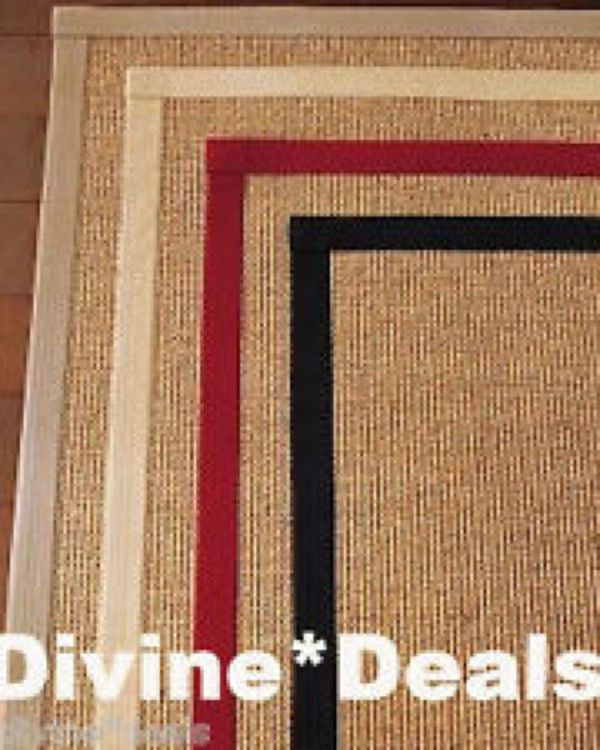 9 X 12 New Pottery Barn Sisal Rug Cardinal Red Border 9 X
