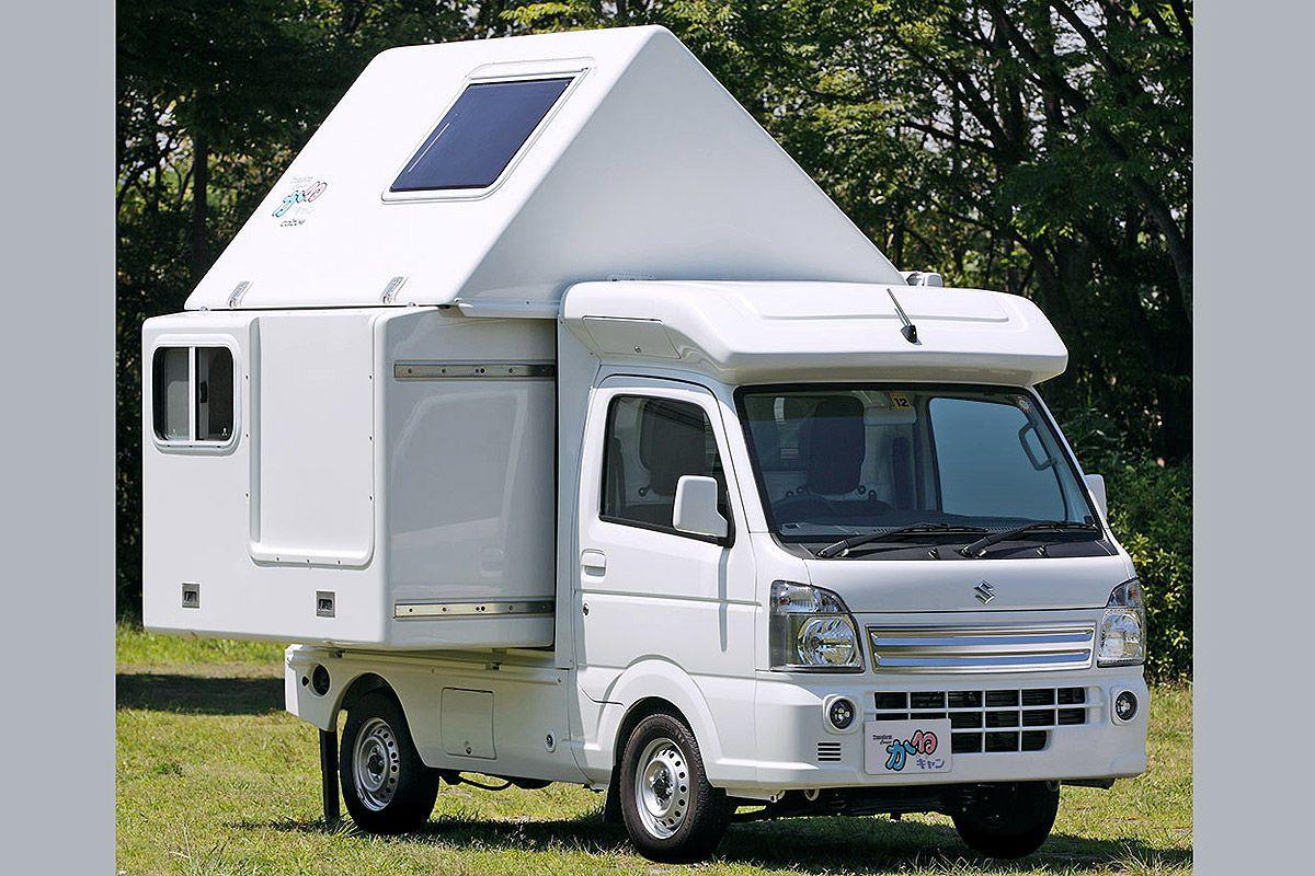 Kei-Camper aus Japan  Offroad wohnmobil, Coole camper, Kleiner