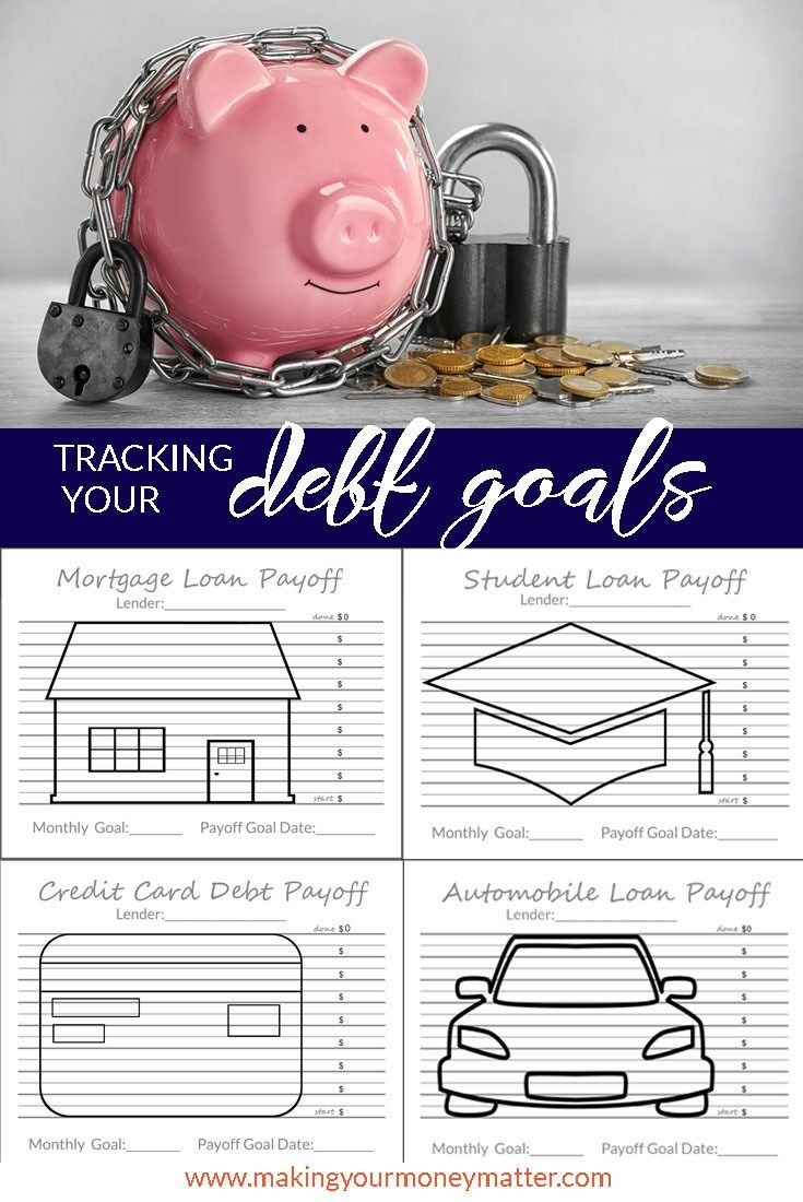 Auto Express Credit >> Tracking Your Debt Goals   Debt payoff, Debt tracker, Debt free