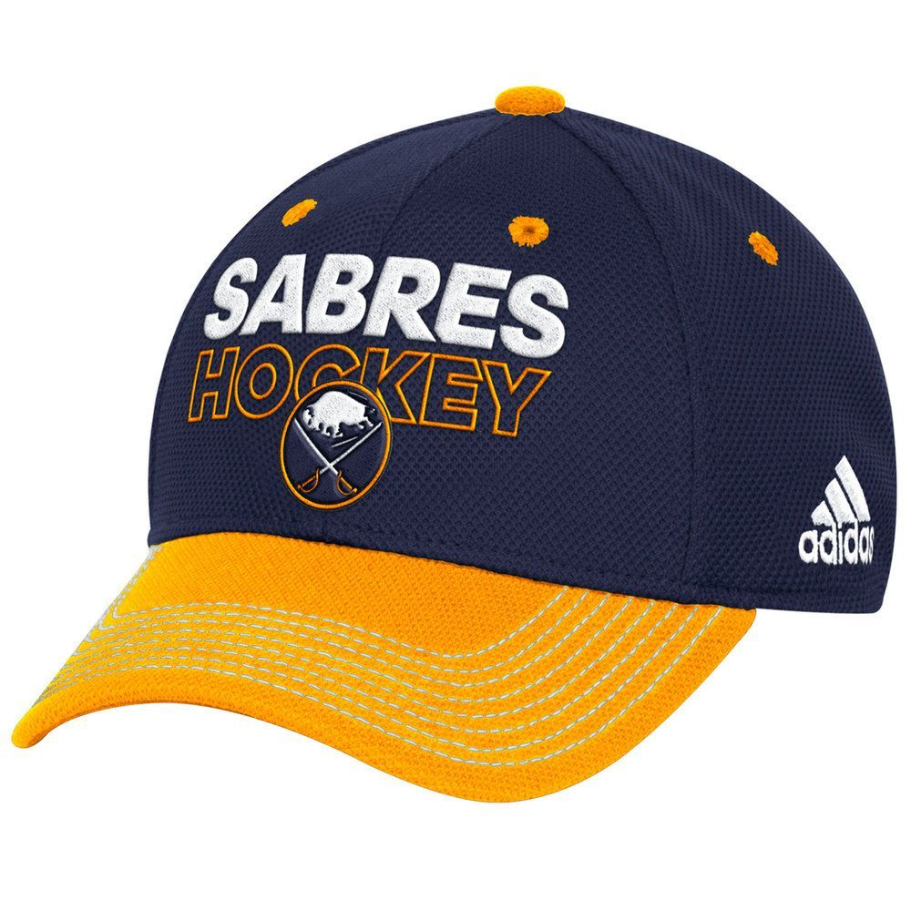 info for a406a 83dc0 Adult Adidas Buffalo Sabres Locker Room Flex-Fit Cap, Men s, Size  L XL,  Blue (Navy)