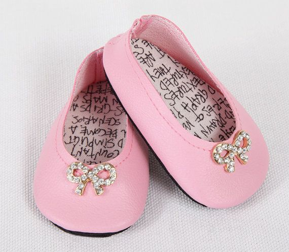 Shoes for 18/'/' AG American Doll Clothes Sneaker Flats Doll Clothes Costume Pink