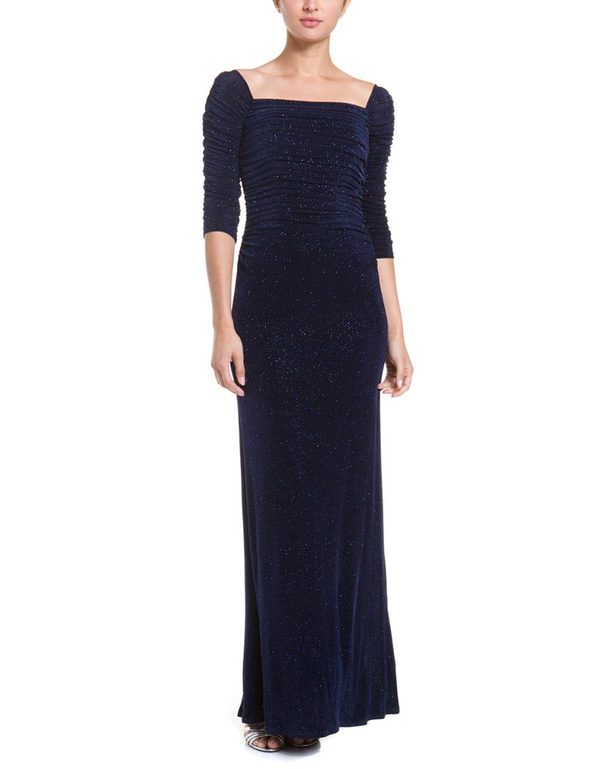 Maybe Mom would like this - Laundry By Shelli Segal Eclipse Off-the-shoulder Glitter Gown