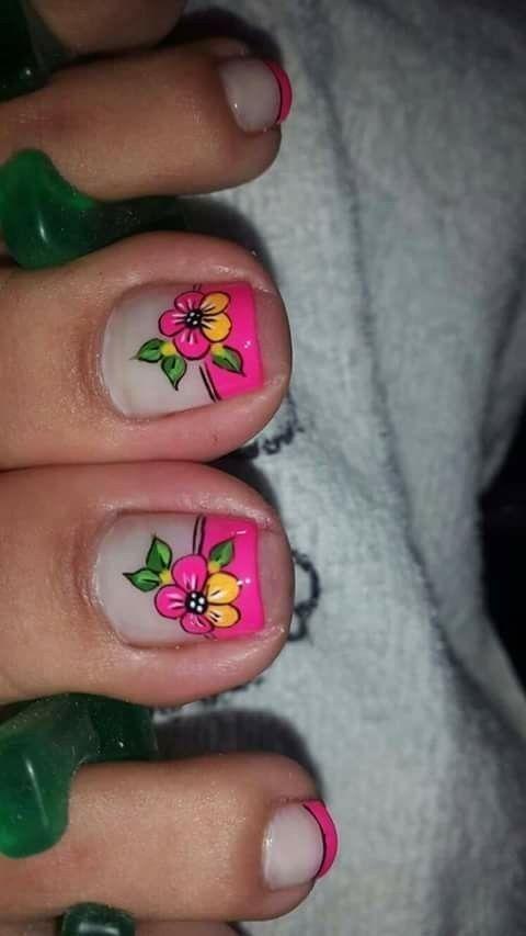 Pin by Yaneth Piedrahita on Beautiful | Cute toe nails ...