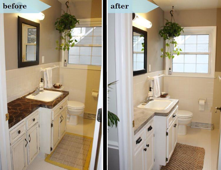 Bathroom Makeover Diy Concrete Counters Bathroom Makeover Diy