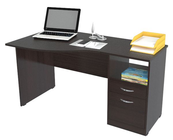 Inval Curved Top Computer Desk with Open Storage $178.62