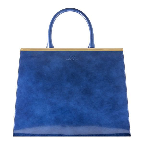 Brenda Macleod Large Blue Leather Handbag For Women With Free Uk Next Day Delivery Lightweight And Practical Tote Bag