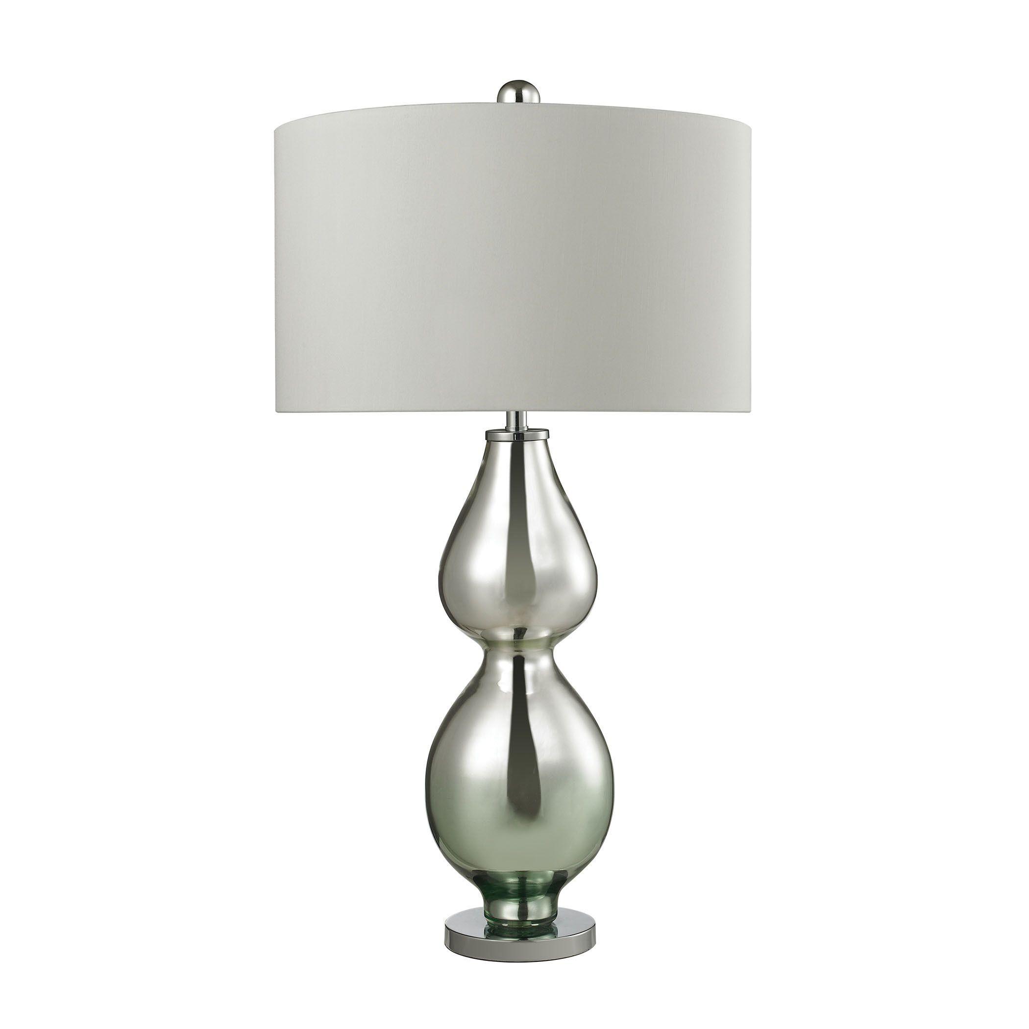 Dimond Double Gourd Light Green Mercury Table Lamp 150 W Med Bulb