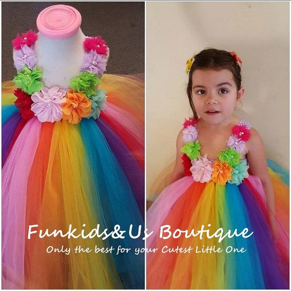 9cf59b6d0b90f Rainbow Birthday Tutu Dress -Rainbow Tutu Outfit, Rainbow Dress ...