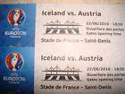 #Ticket  2 Tickets Kategorie 1 Island-Österreich Stade de France am 22.06. in Paris #Ostereich