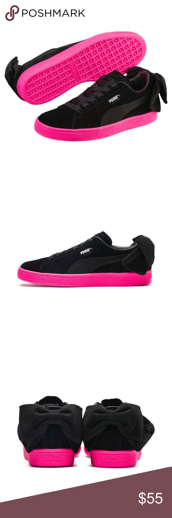 Puma Women's Suede Basket Bow Sneakers Size 6 NIB Puma