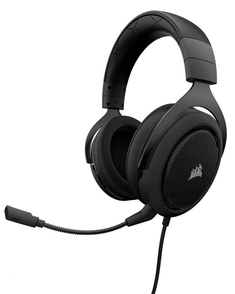 Best Buy Corsair Hs50 Wired Stereo Gaming Headset For Pc Xbox One Ps4 Nintendo Switch And Mobile Devices Carbon Hs50 In 2020 Best Gaming Headset Gaming Headset Gaming Headphones