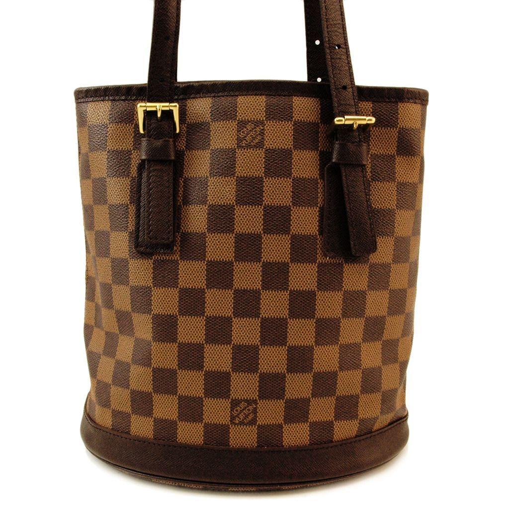 Louis Vuitton Damier Bucket Handbag Authentic Pre Owned