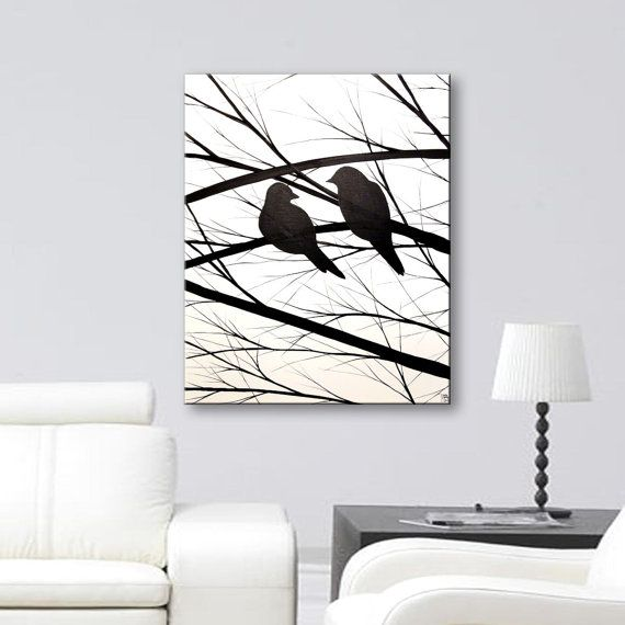 Your Place To Buy And Sell All Things Handmade Silhouette Wall Art Silhouette Canvas Bird Silhouette