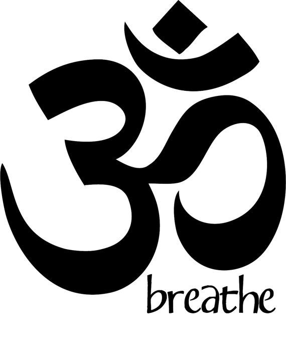 Ohm Aum Yoga Studio Namaste Vinyl Decal by ScriptumInMuris