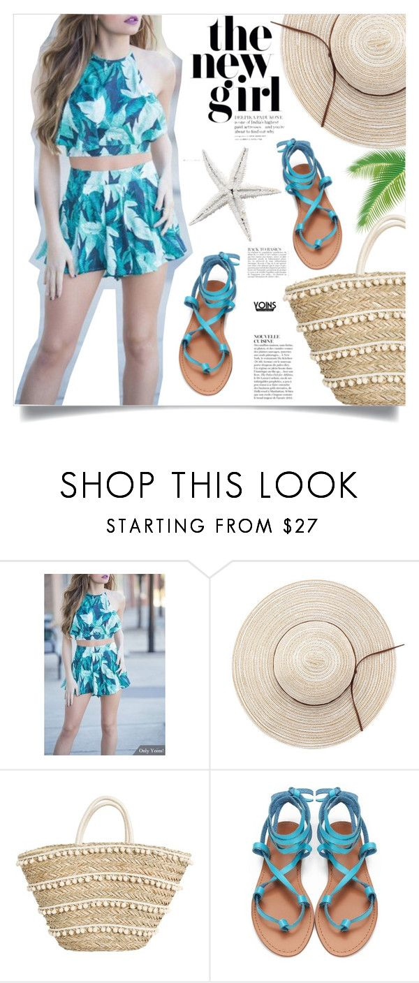 """Yoins: Tropical Prints"" by yoinscollection ❤ liked on Polyvore featuring Anja"