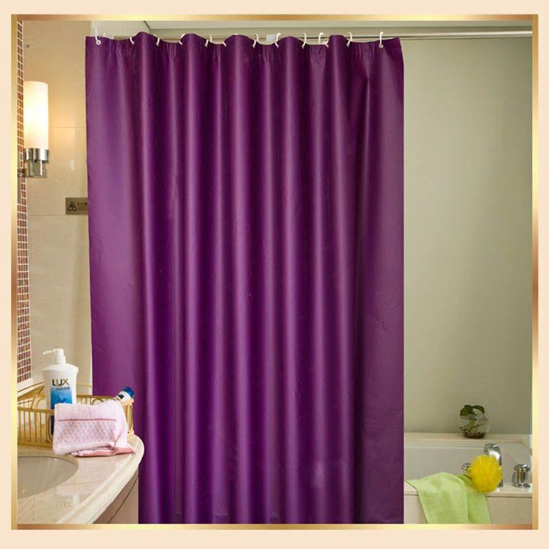 New Waterproof Mildewproof Shower Curtain Thicken Opaque Polyester