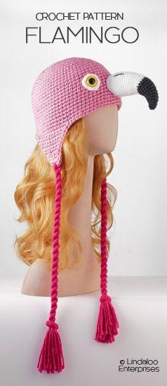 Flamingo Amigurumi Hat Crochet Pattern From The Book Amigurumi