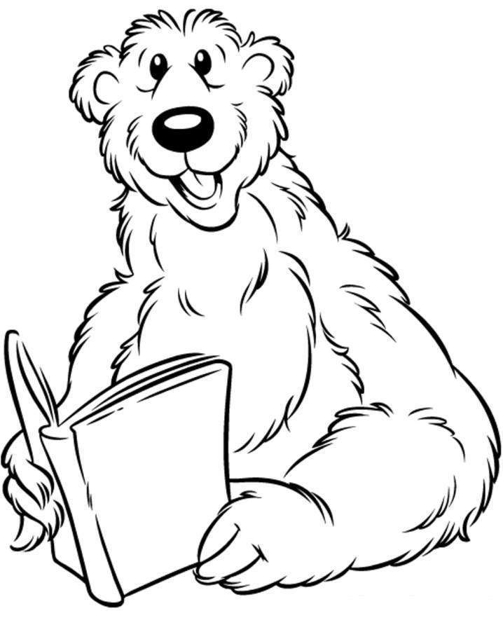 Reading Animals Colouring Pages Az Coloring Pages Coloring Pages Of Animals Reading Jpg 718 892 Pixeles Bear Coloring Pages Colouring Pages Big Blue House
