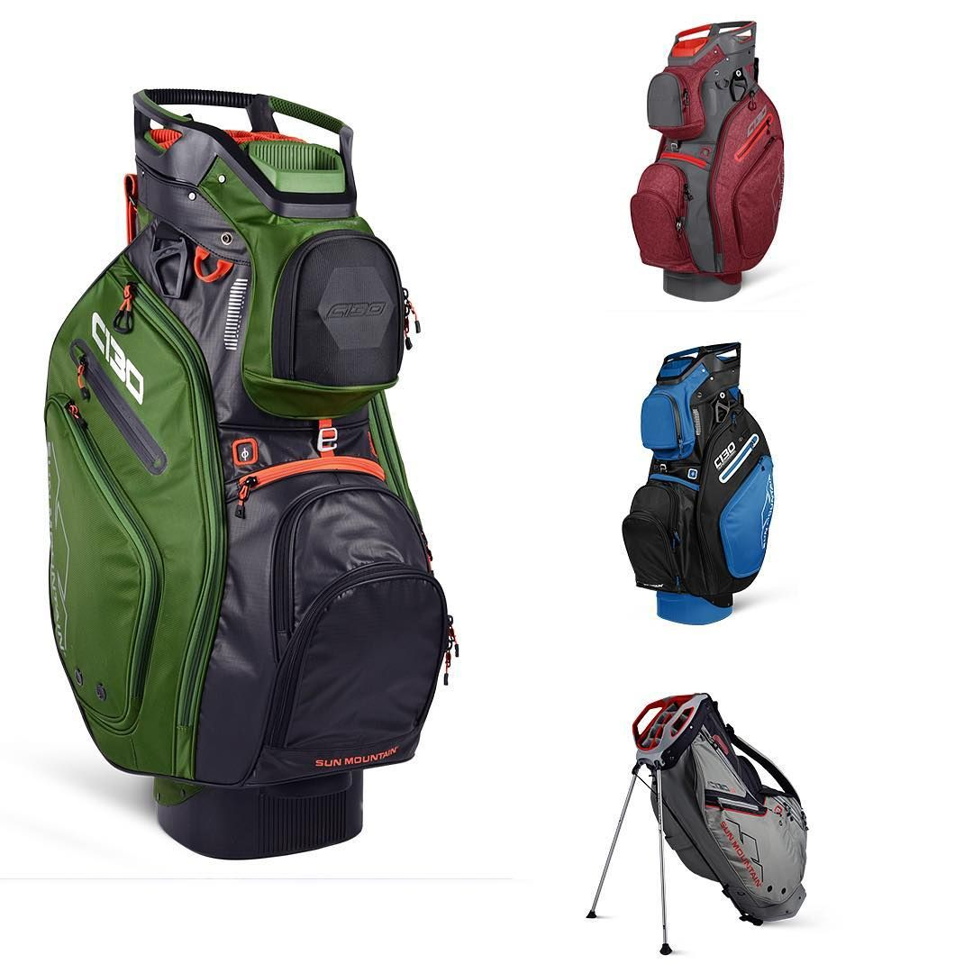 The C 130 Family Our Best Selling Bag Has Been Expanded To Include 4 Models C 130 Cart Bag C 130 Supercharged Golf Bags Golf Bags For Sale Disc Golf Bag