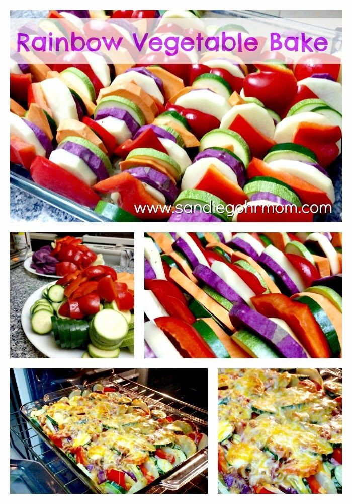 Rainbow Vegetable Bake Casserole