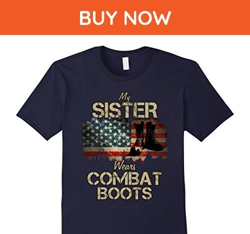 Mens My Sister Wears Combat Boots Medium Navy - Relatives and family shirts (*Amazon Partner-Link)