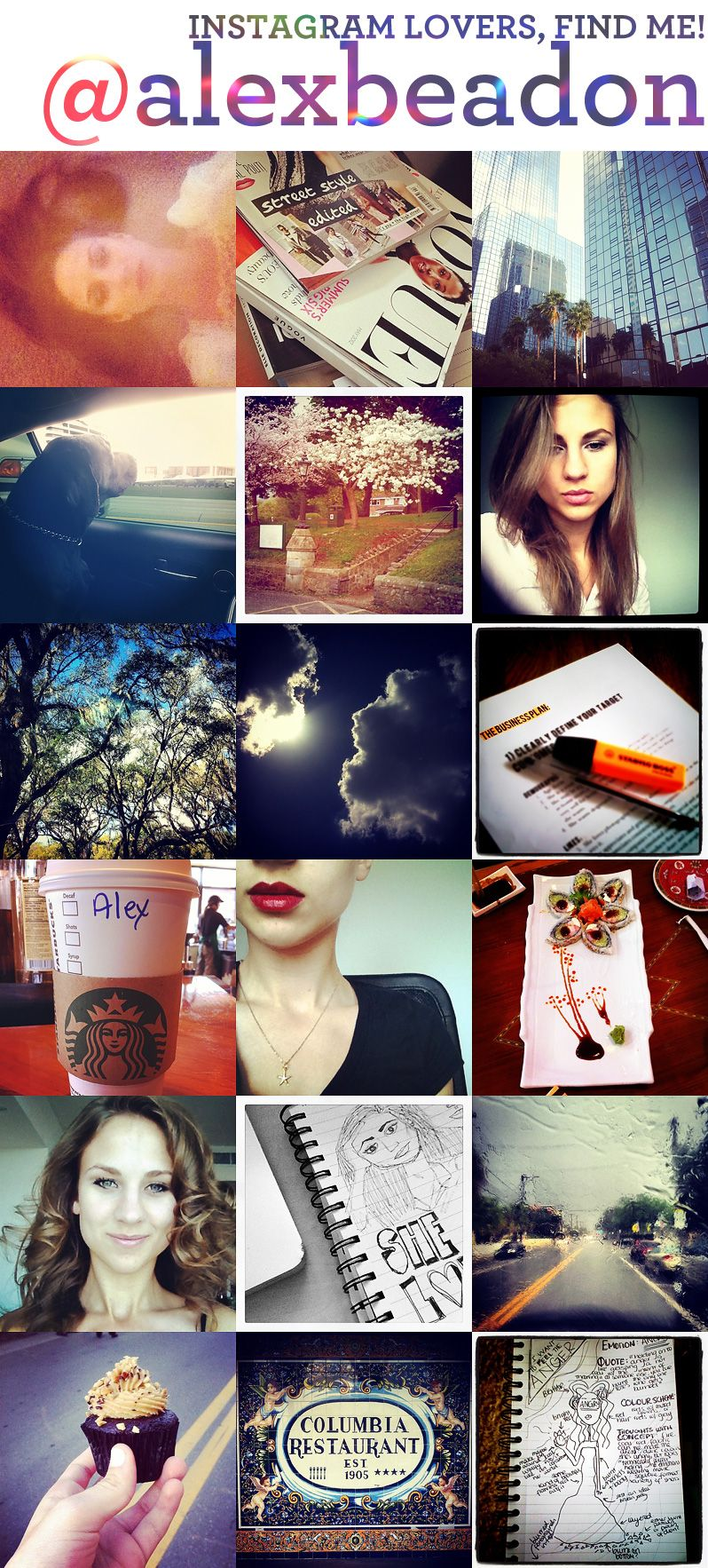 You and Me on Instagram - love the collage feel