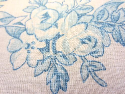 "Detail close up of ""Lakeville"" - toile from Ralph Lauren.  The unusual linen-like texture is visible in this shot."