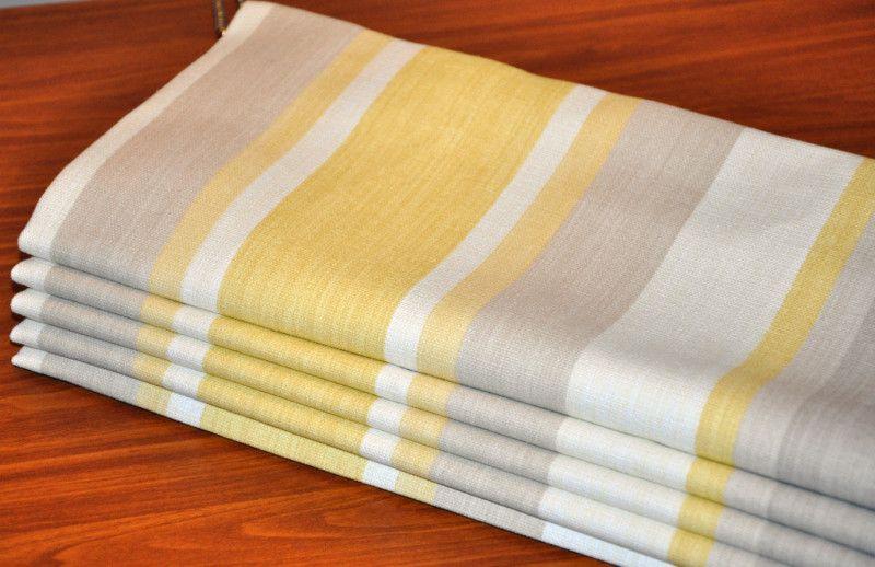 Laura Ashley Awning Stripe Camomile Yellow Yellow