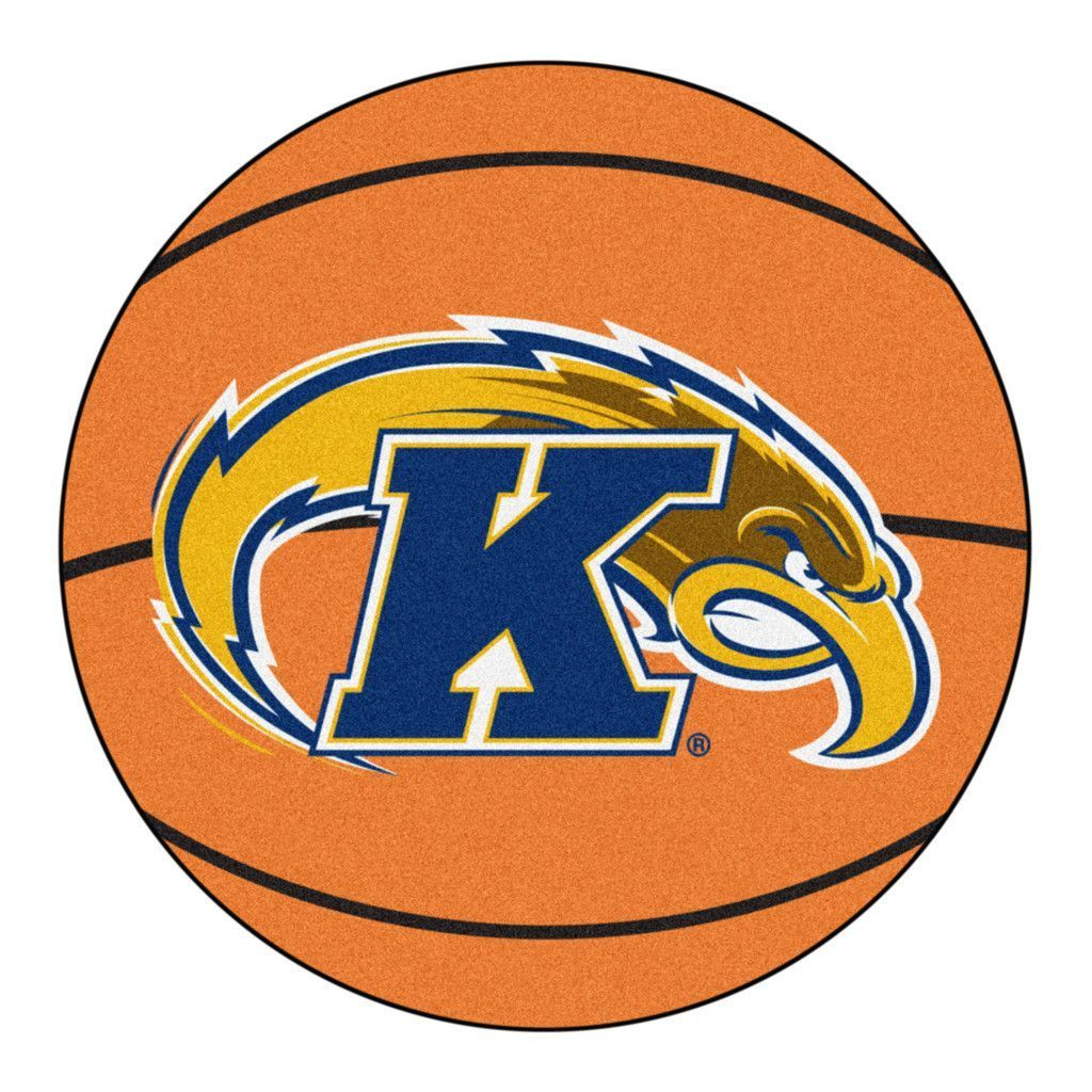 Kent State Golden Flashes Basketball Area Rug Round area